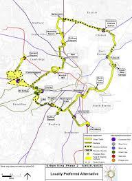 T Boston Map by Urban Ring Transit Project Boston Planning U0026 Development Agency