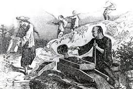 Sovereign Hill Education Blog   For teachers and students        th century Chinese gold miners  Artist and date unknown