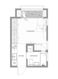 Micro Studio Plan Little Design Creates 22m2 Apartment In Taiwan