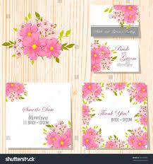 Sport Invitation Card Wedding Invitation Cards Floral Elements Stock Vector 229127296