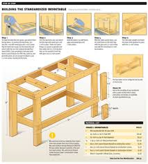 Basic Wood Bench Plans by Image Of Garage Work Bench Workbench Plans For Garage And