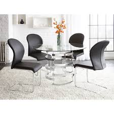 Steve Silver Dining Room Furniture Steve Silver Tayside Tempered Glass Top Dining Table Hayneedle