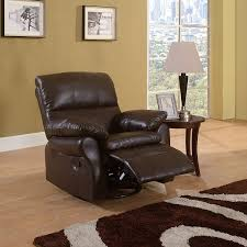 Leather Rocker Recliner Swivel Chair Amazon Com Classic Brown Bonded Leather Oversize Rocker And