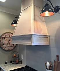 Kitchen Hood Fans A Diy Ish Wood Vent Hood From Thrifty Decor