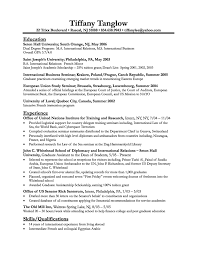 Sample Undergraduate Resume Resume Writing For High School Students Undergraduate