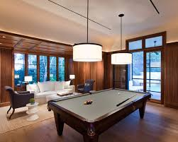 Pool Table In Dining Room by Man Cave Rec Room Ideas Modern Wood Panel Pool Table Lighting
