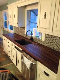 Distressed Black Kitchen Island by Countertops Walnut Butcher Block Countertop Marble Countertop