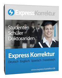 Express Korrekturlesen Dissertation  Doktorarbeit korrigieren lassen  Korrektur Promotion   Deutsch  Englisch  Italienisch Express Korrektur