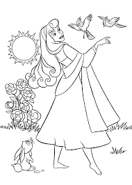 sleeping beauty coloring pages for kids printable free sleeping