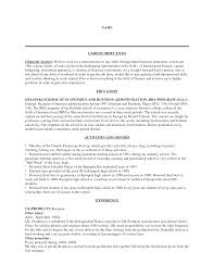 Sample Babysitter Resume by Resume Writing Objectives Summaries Or Professional Profiles