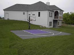 backyard basketball court dimensions design and ideas of house