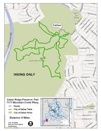 Downtown Dallas Map by Major Nature Trails Dallas Parks Tx Official Website