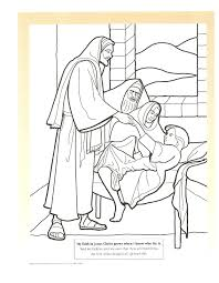 miracles of jesus coloring pages cecilymae