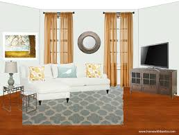 home with baxter design board blue and gold family room
