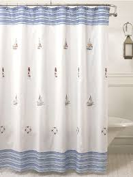 annapolis embroidered nautical fabric shower curtain curtain