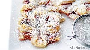 jam filled puff pastries look like edible christmas gifts