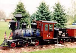 buckhorn northern railroad miniature train at north lake park