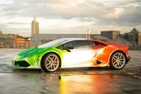 Lamborghini Huracan Colors - photo gallery lamborghini huracan with tri colour flames wrap