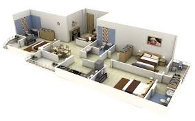 interior apartment modeled in moi furniture in sketchup and