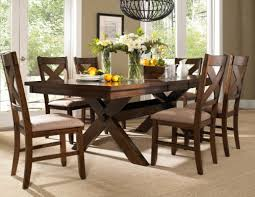 roundhill furniture 7 piece karven solid wood dining set with