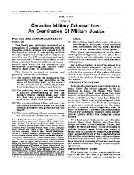 Selected Bibliography   MIlitary Law Canada with Emphasis on     Lareau law ca        quot Canadian Military Criminal Law  An Examination of Military Justice  in Four Parts  quot             Chitty     s Law Journal