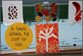 a simple giftable fall craft for kids praying for parker