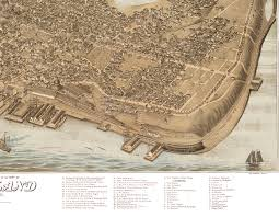 Map Of Portland Maine by Portland Maine In 1876 Bird U0027s Eye View Map Aerial Panorama
