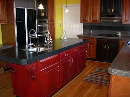 Distressed Black Kitchen Island by Kitchen Island Kitchen Furniture Red Cherry Wooden Cabinet