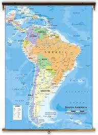 South America Map And Capitals by South America Political Classroom Map From Academia Maps
