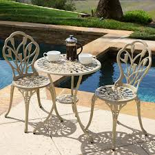 Cast Iron Patio Set Table Chairs Garden Furniture - amazon com sonoma sand bistro set outdoor and patio furniture