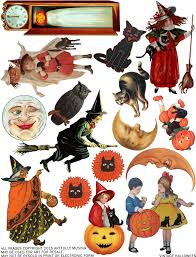 happy halloween banner free printable artfully musing free vintage halloween collage sheet happy