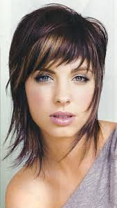 haircuts with layers for medium length hair and side bangs