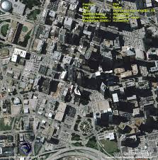 Downtown Dallas Map by Worldview 2 Satellite Image Downtown Dallas Satellite Imaging Corp