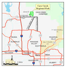 Route 66 Arizona Map by Cave Creek Regional Park Map Parks U0026 Recreation Maricopa