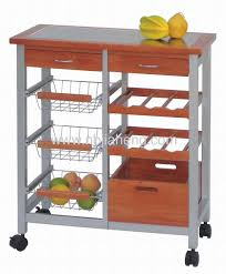 Kitchen Trolley Designs by Eco Friendly Bamboo Kitchen Trolley With Wine Rack And One Drawer