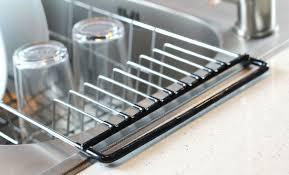 Dish Drainer Rack Over Sink Holder Drying Kitchen Organizer - Kitchen sink dish rack