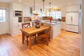 Wooden Kitchen Island Table 30 Kitchen Islands With Tables A Simple But Very Clever Combo