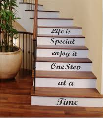 one step at a time vinyl stairs decal lettering for stairs walls one step at a time vinyl stairs decal lettering for stairs