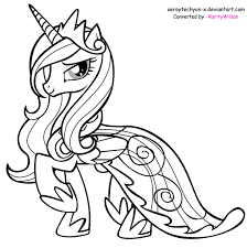 mlp printable coloring pages my little pony princess cadence