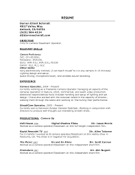 Actor Resume Commercial Filmmaker Resume Template Resume Template Tv Production Film