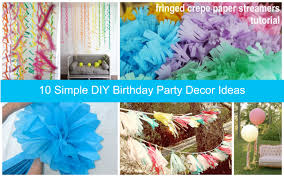Home Made Decoration by Home Decor Homemade Decoration Ideas For Birthday Party All