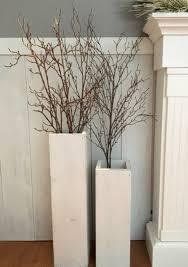 white wooden vases reclaimed wood distressed wood floor