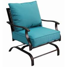 Lowe Outdoor Furniture by Garden Treasures Galway Bay Steel Cushioned Patio Spring Motion