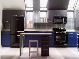 Dark Grey Cabinets Kitchen Grey Cabinets Team Up With Black Appliances In The Kitchen With