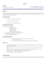 Resume Examples Human Resources Cv Samples For It Freshers