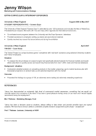 Resume Template Australia For Students   Resume Templates