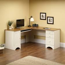 sauder harbor view corner computer desk antiqued paint finish