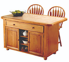 sunset trading 3pc light oak kitchen island set with beige khaki
