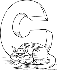 cat s alphabet caa4c coloring pages printable