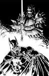 The Dark Knight v.s the Impaler by ~francesco-biagini on deviantART